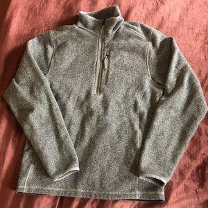 Grey North Face Men's Halfzip Pullover